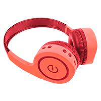 AUDÍFONOS ON-EAR INALAMBRICOS MANOS LIBRES CON BT FM SD 3.5MM EASY LINE BY PERFECT CHOICE CORAL