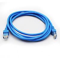 CABLE DE RED GHIA 2 MTS 6 PIES PATCH CORD RJ45 CAT 5E UTP AZUL